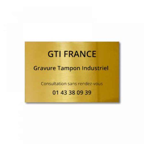 Gravure sur laiton 30x20cm - Paris 11