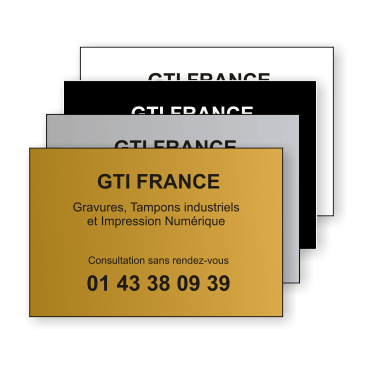 Plaque Plastique 30x20 - GTI France - Paris 11