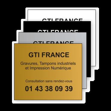 Plaque Plastique 30x25 - GTI France - Paris 11