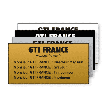 Plaque Plastique 60x30 - GTI France - Paris 11