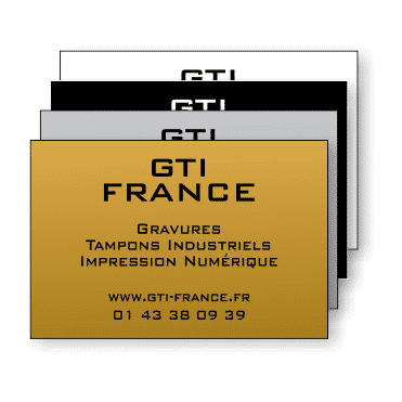 Plaque Plastique 60x40 - GTI France - Paris 11